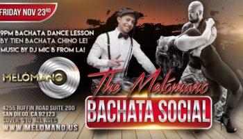 Melómano Bachata Social! Friday 11/23!
