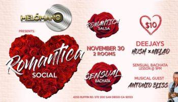Melómano Salsa Romantica & Bachata Sensual Night! 2 rooms! 11/30